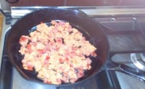 Vegan veggie lentil scramble 1